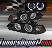 TD® Halo Projector Headlights (Black) - 01-03 BMW 530i 4dr E39