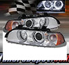 TD® Halo Projector Headlights (Chrome) - 01-03 BMW 530i 4dr E39