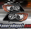 TD® CCFL Halo Projector Headlights (Black) - 07-08 BMW 335xi 4dr E90
