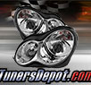 TD® Projector Headlights (Chrome) - 02-04 Mercedes Benz C230 4dr/Hatchback W203