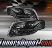TD® DRL LED Projector Headlights (Black) - 06-08 Audi A4 (Exc. Convertible)