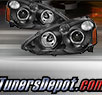 TD® Halo Projector Headlights (Black) - 02-04 Acura RSX RS-X