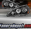 TD® CCFL Halo Projector Headlights (Black) - 05-06 Acura RSX RS-X