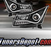 TD® DRL LED Halo Projector Headlights (Black) - 11-15 Chevy Cruze