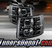 TD® DRL LED Halo Projector Headlights (Smoke) - 07-13 Chevy Silverado