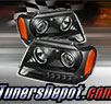 TD® LED Halo Projector Headlights (Black) - 99-04 Jeep Grand Cherokee