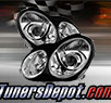 TD® Projector Headlights (Chrome) - 03-04 Mercedes Benz C230 4dr W203