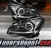 TD® DRL LED Projector Headlights (Chrome) - 12-15 Mercedes Benz C350 2dr W204