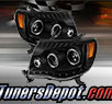 TD® DRL LED Halo Projector Headlights (Black) - 05-11 Toyota Tacoma