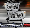 TD® Light Bar DRL LED Projector Headlights (Chrome) - 07-13 Toyota Tundra