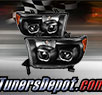 TD® LED Halo Projector Headlights (Black) - 07-13 Toyota Tundra