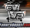 TD® LED Halo Projector Headlights (Chrome) - 07-13 Toyota Tundra