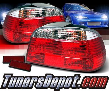 bmw 750il e38. TM Euro Tail Lights (Red⁄Clear) - 95-01 BMW 750iL E38 7 Series. TM Euro Tail Lights (Red⁄Clear) - 95-01 BMW 750iL E38. SKU#: JY-LTE384RPW-TM