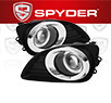 Spyder® Halo Projector Fog Lights (Clear) -  10-11 Toyota Camry