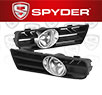 Spyder® OEM Fog Lights (Clear) - 99-04 VW Volkswagen Golf GTI/TDI (Factory Style)