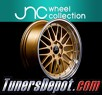 JNC Wheels JNC005 (Set of 4) - 17x9.5 Gold + Silver Lip (5x114.3, ET+32)