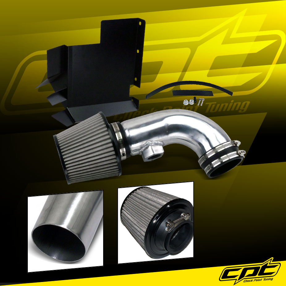 Stainless Steel Air Filter 11-14 Optima Turbo 2.0L Polish Cold Air Intake