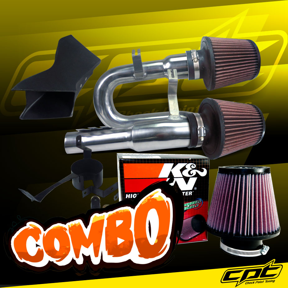 Stainless Air Filter 07-10 BMW 335i 3.0L L6 E90//E92//E93 Red Cold Air Intake