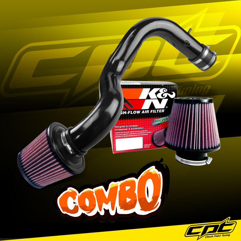 00-03 TL 3.2 L V6 Cold Air Intake Kit BLACK Filter For 01-03 Acura CL