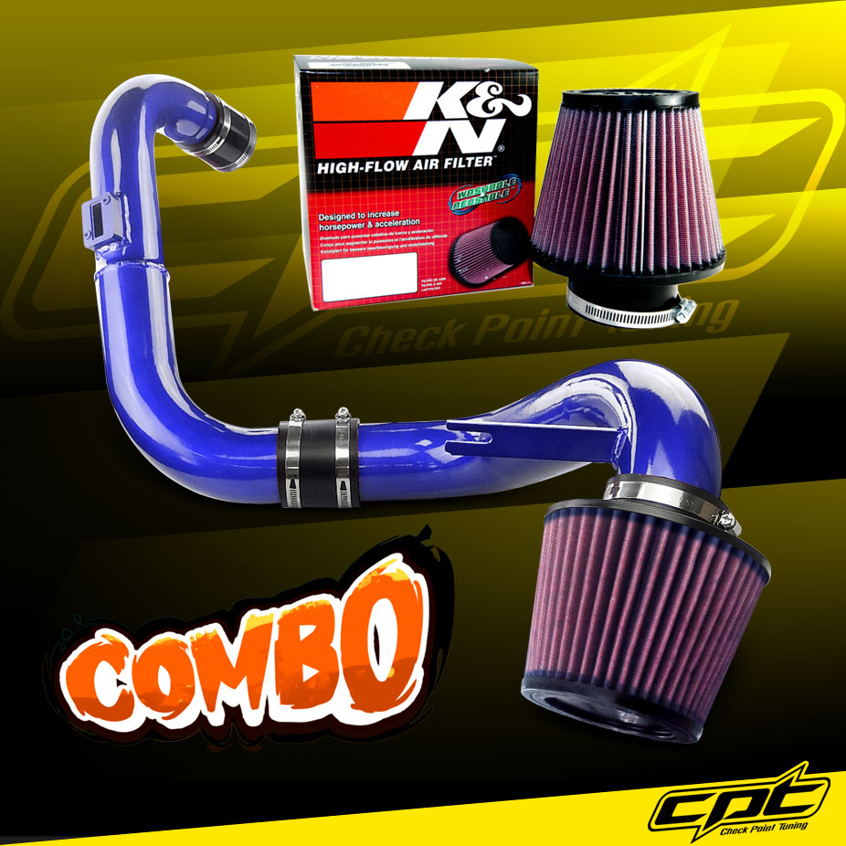 For 2006-2011 Honda Civic DX LX EX 1.8L L4 Cold Air Intake pipe Blue Filter