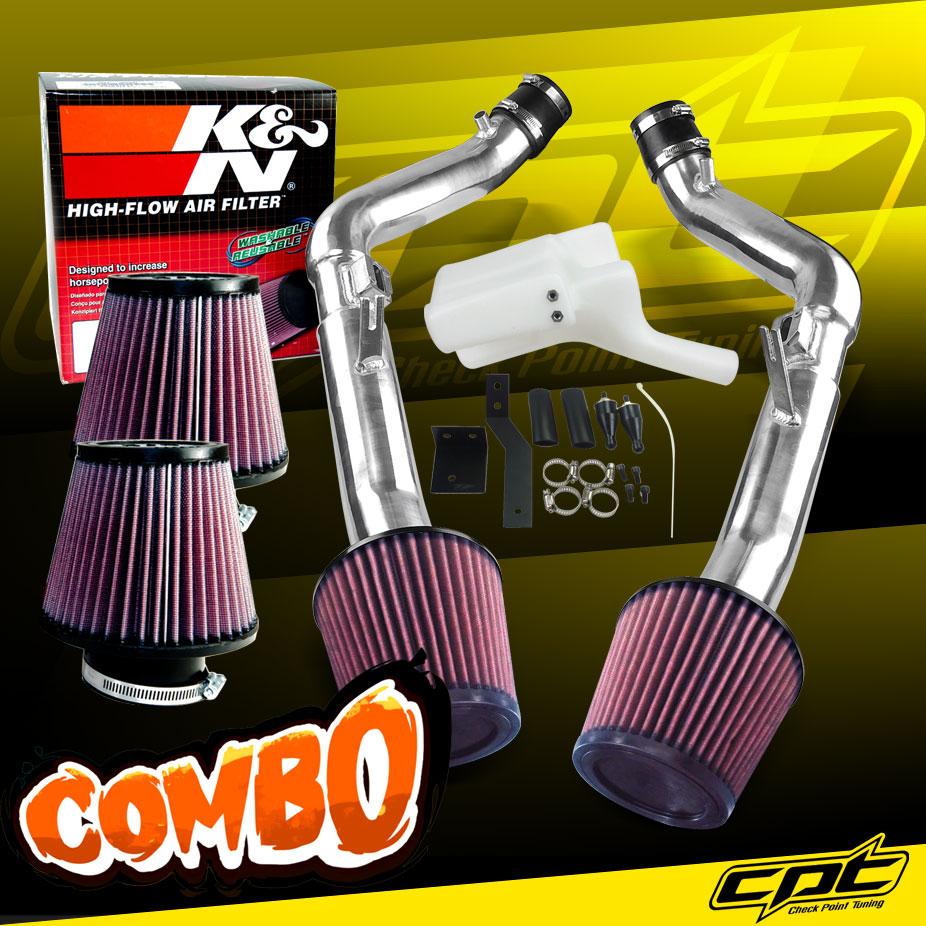 08-13 G37 2dr//4dr 3.7L V6 Black Cold Air Intake K/&N Air Filter