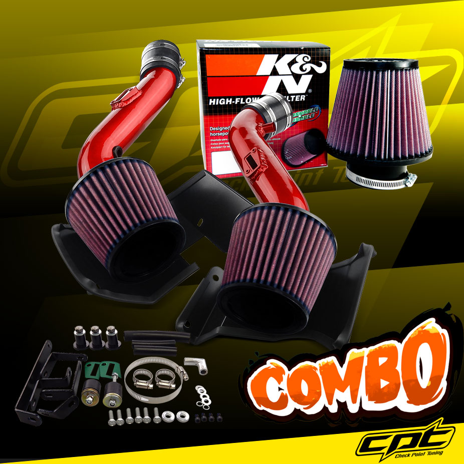 07-09 350Z V6 3.5L Black Cold Air Intake Stainless Steel Air Filter