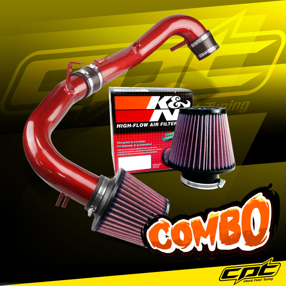 "Filter For 05-06 tC 2.4L L4 2.75/"" RED JDM Cold Air Intake Induction Kit"