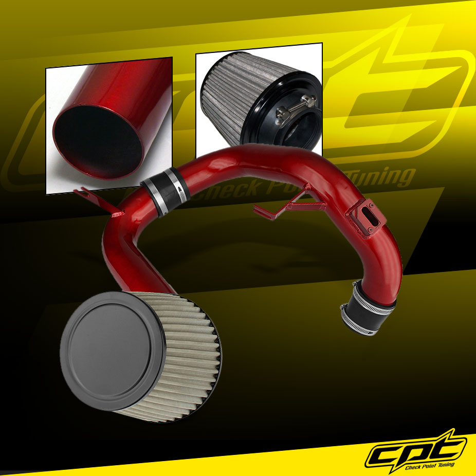 Stainless Air Filter 06-11 Honda Civic DX//LX//EX 1.8L Red Cold Air Intake
