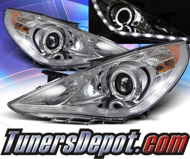 KS® LED Halo Projector Headlights (Chrome) - 11-13 Hyundai Sonata