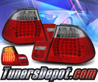 KS® LED Tail Lights (Red⁄Clear) - 02-05 BMW 325i E46 4dr.