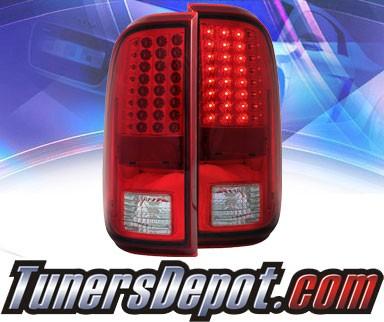 ks led tail lights red clear 08 13 ford f250 f 250. Black Bedroom Furniture Sets. Home Design Ideas