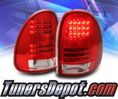 ks led tail lights red clear 98 03 dodge durango 03 dc96tled. Black Bedroom Furniture Sets. Home Design Ideas