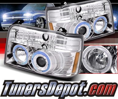 SPEC-D® Halo Projector Headlights - 92-96 Ford F350 F-350