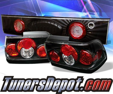 Sonar® Altezza Tail Lights (Black) - 93-95 Toyota Corolla