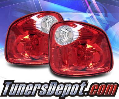 sonar euro tail lights red clear 97 03 ford f 150 f150 flareside 33. Black Bedroom Furniture Sets. Home Design Ideas