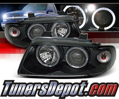 Sonar® Halo Projector Headlights (Black) - 95-98 Audi S4