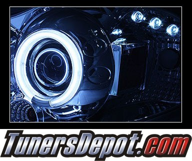 Sonar® LED CCFL Halo Projector Headlights - 03-08 Toyota Corolla