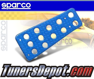 Auto Racing Blue Sports Pedals on Sparco   Dead Pedal   Tapered  Blue