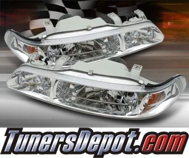 Acura Integra Parts on Td   1 Pc Crystal Headlights 90 93 Acura Integra Hd Op Ai90 1pc C